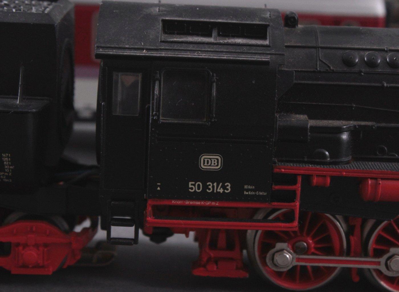 Märklin H0 3315 Dampf-Lok Baureihe 50 3143 DB in schwarz mit-2