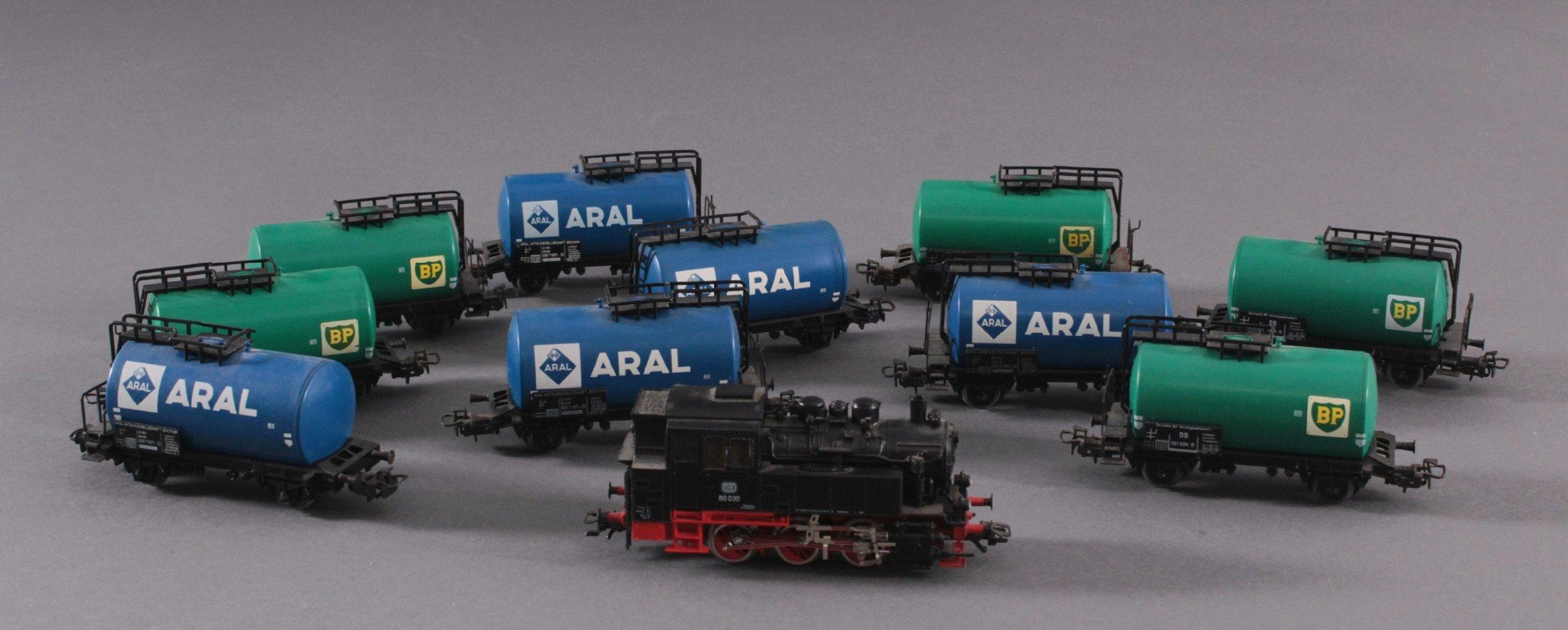 Märklin H0 3540 Dampf-Lok BR 80030 DB in schwarz mit