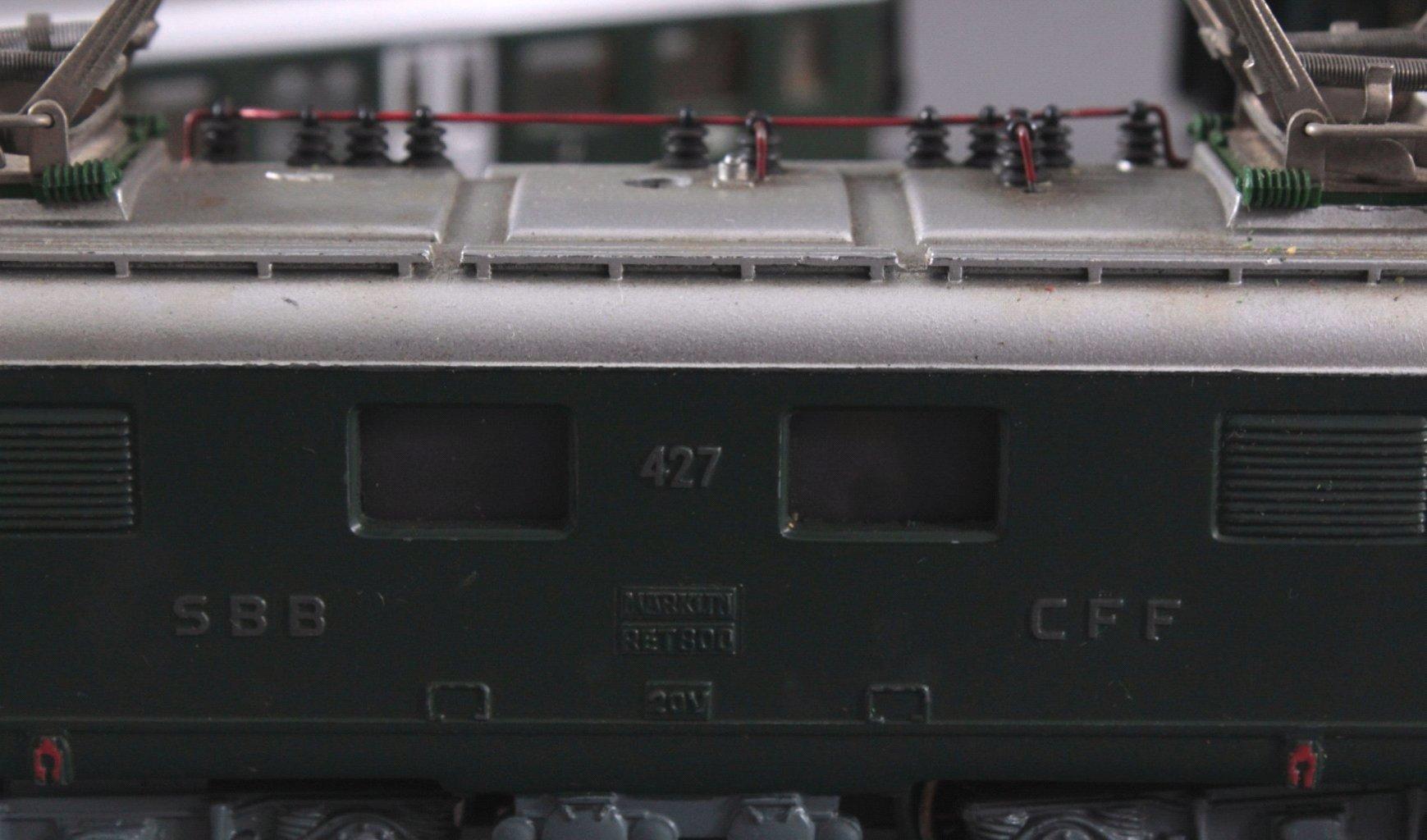 Märklin H0 RET 800 E-Lok SSB in grün mit-2