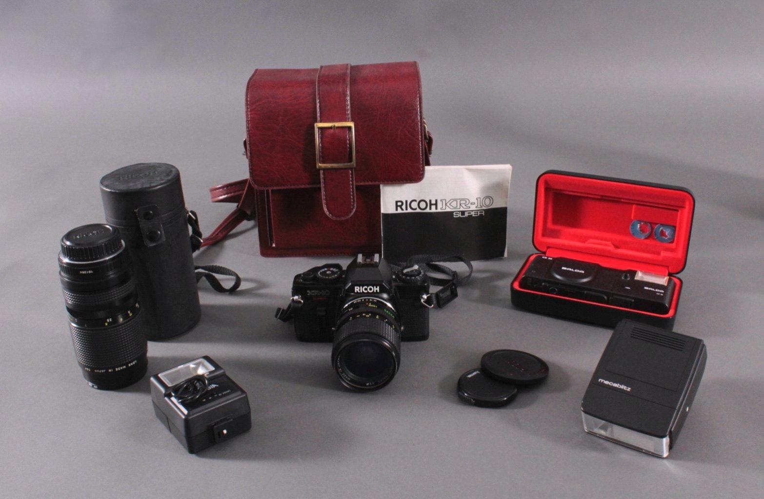 Richo XR-10 Fotoaparat mit Zubehör und Ledertsche