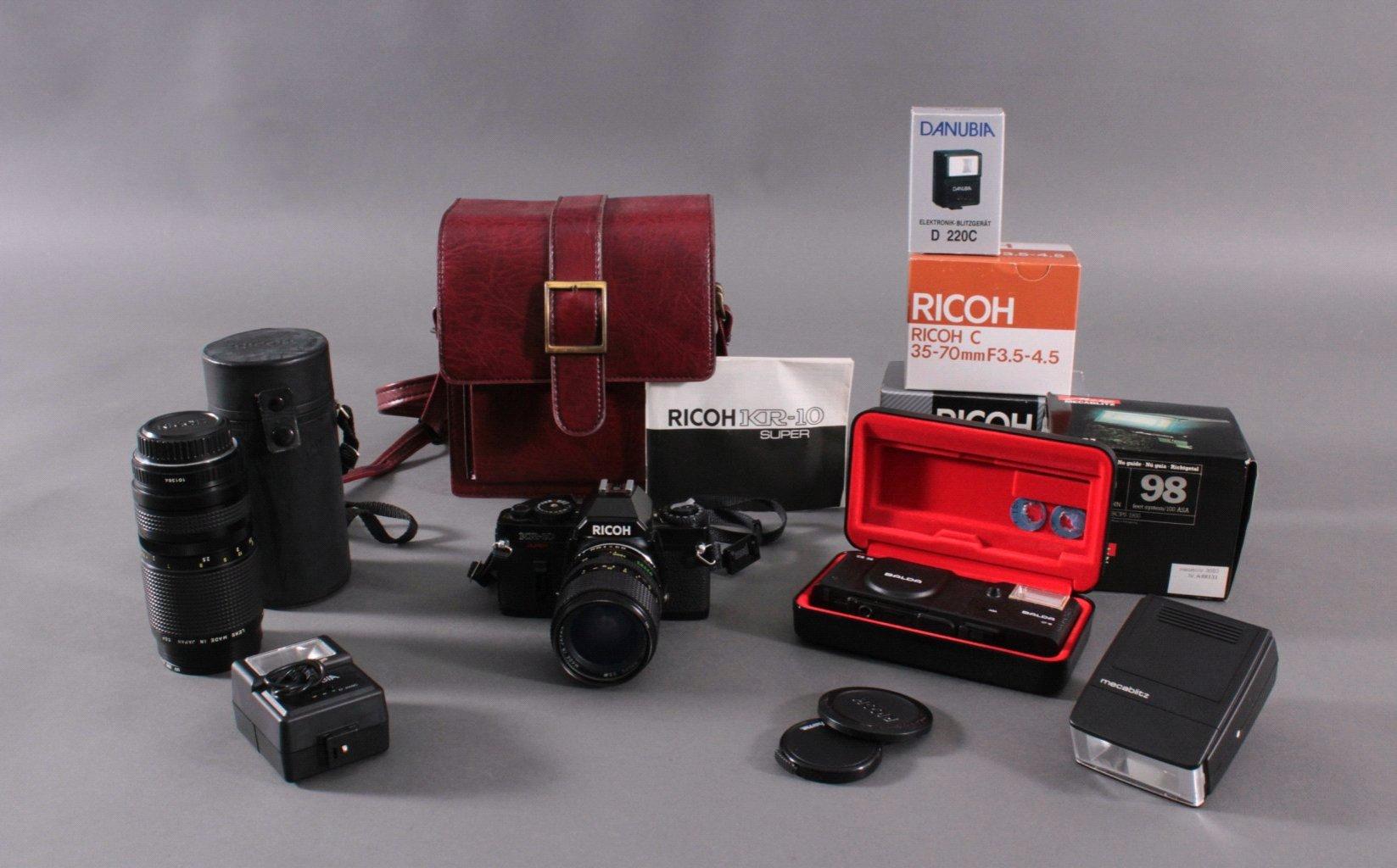 Richo XR-10 Fotoaparat mit Zubehör und Ledertsche-1