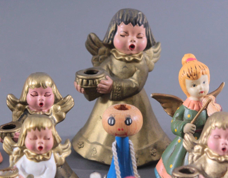 Sammlung Engelfiguren, überwiegend Bozner Engel-1