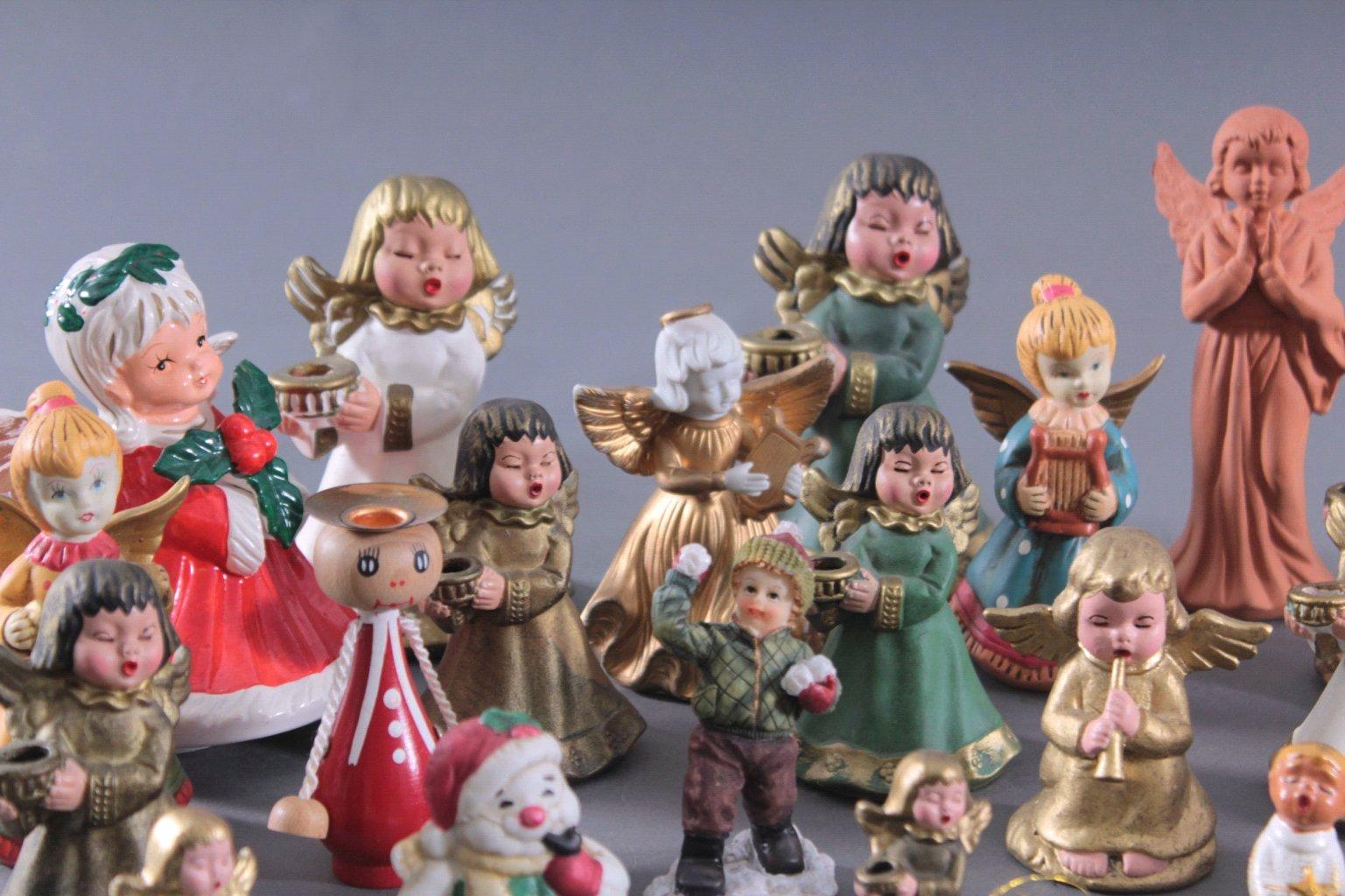 Sammlung Engelfiguren, überwiegend Bozner Engel-2
