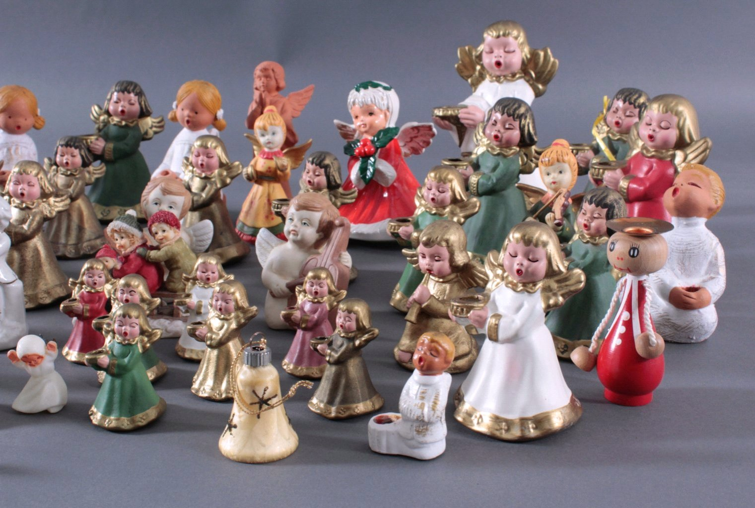 Sammlung Engelfiguren, überwiegend Bozner Engel-3