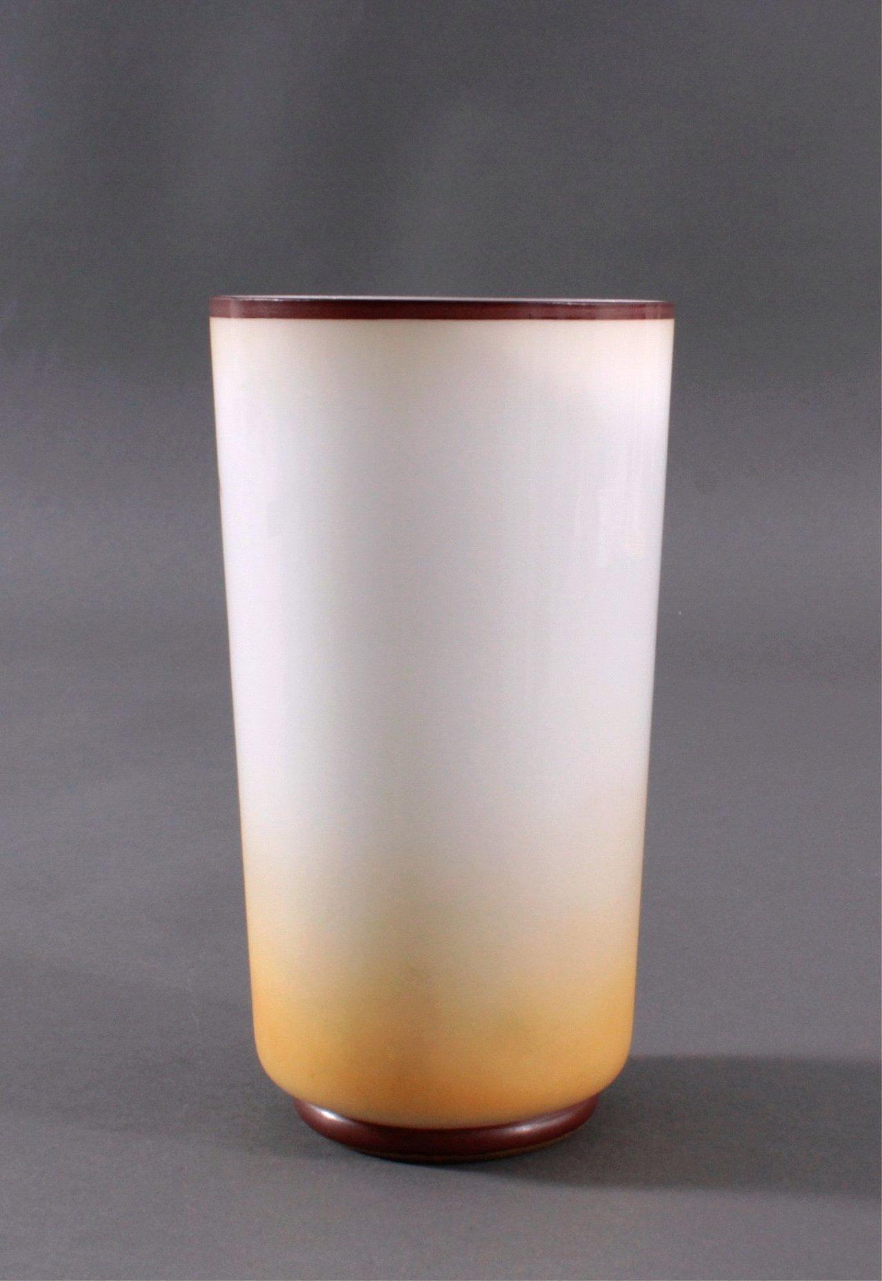 Zylindrische Vase auf rundem Standring um 1900-1