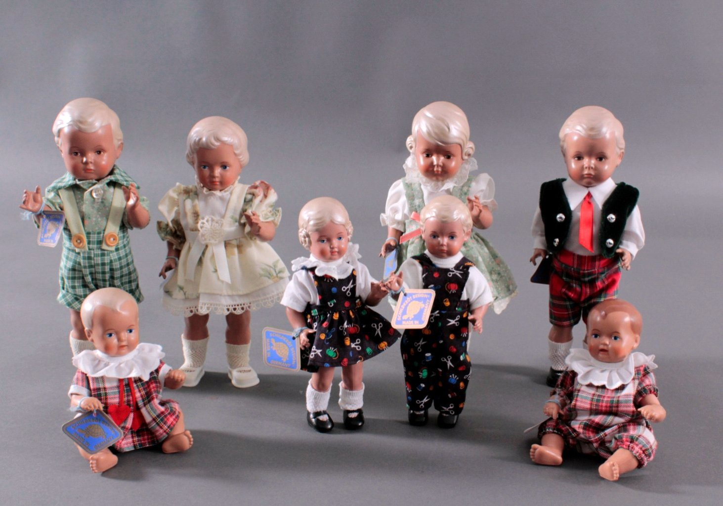 Konvolut Schildkröt-Puppen