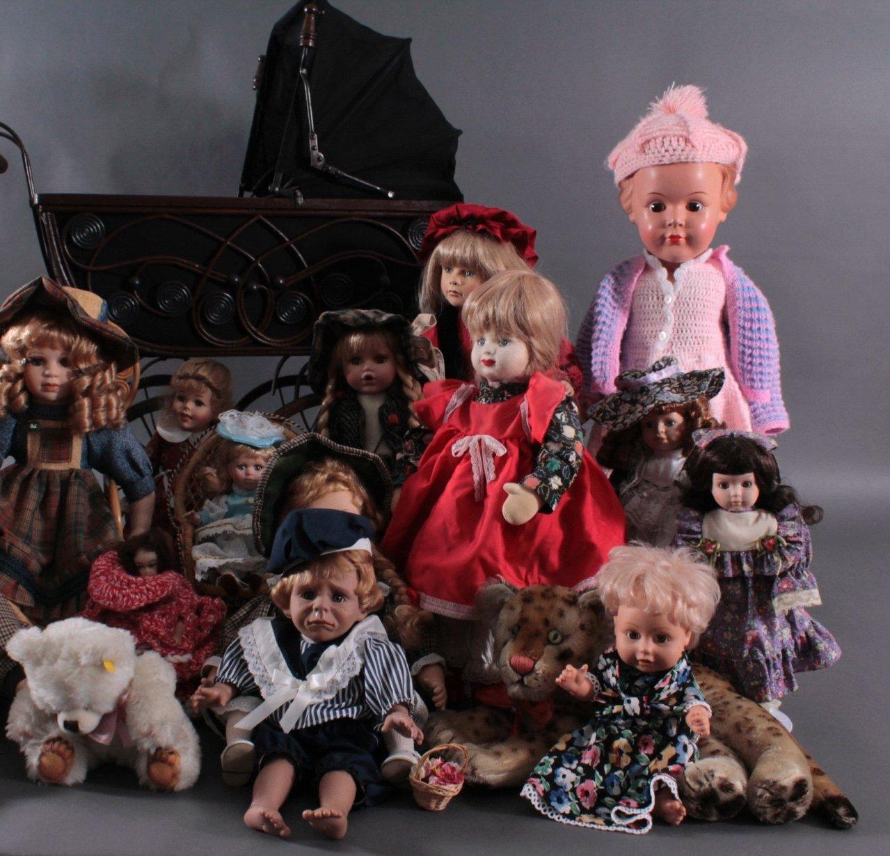 Großes Konvolut Puppen mit Kinderwagen, ca. 22 Stück-2