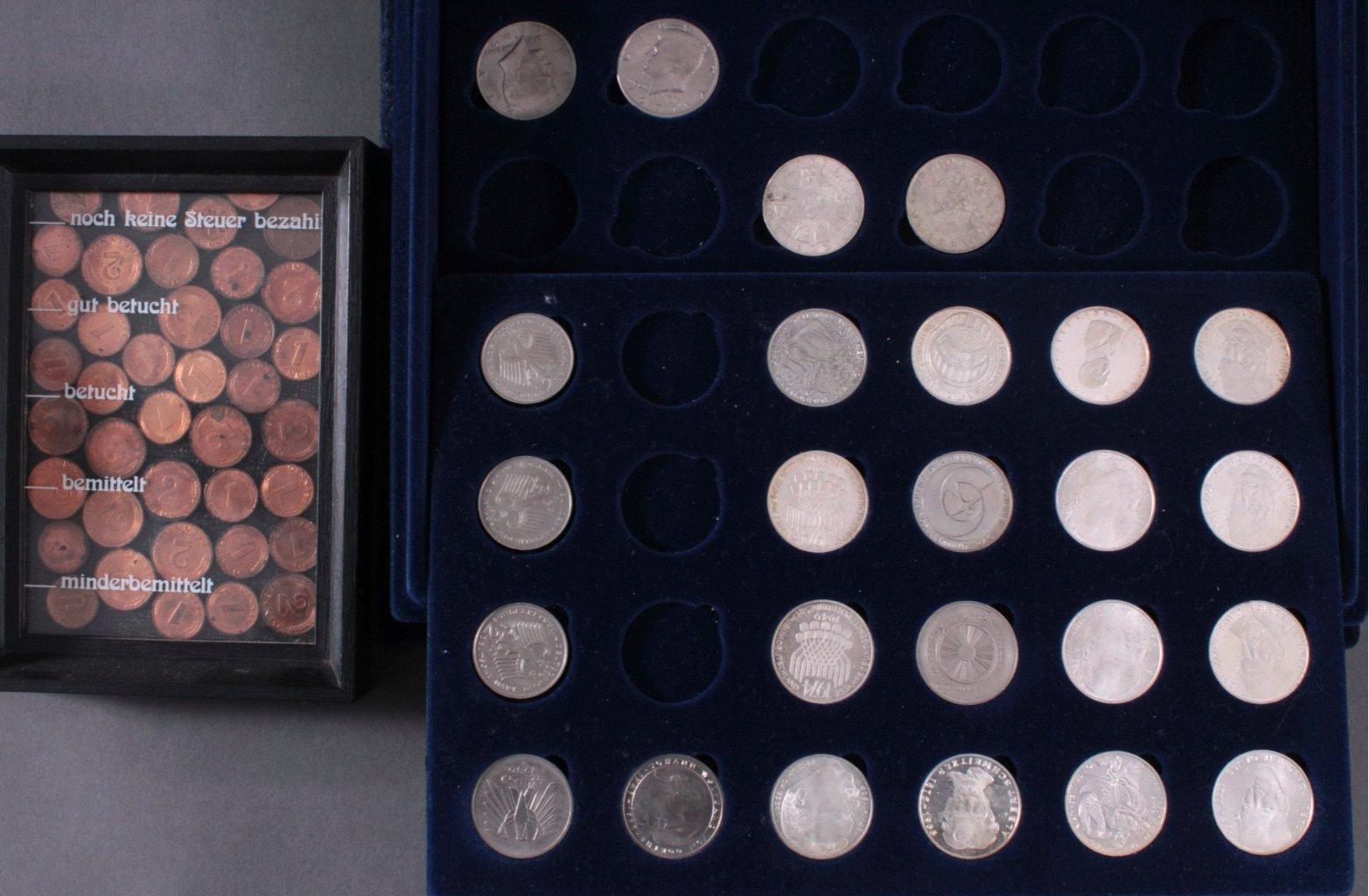 Kleine Münzsammlung Alle Welt mit Schatulle-1