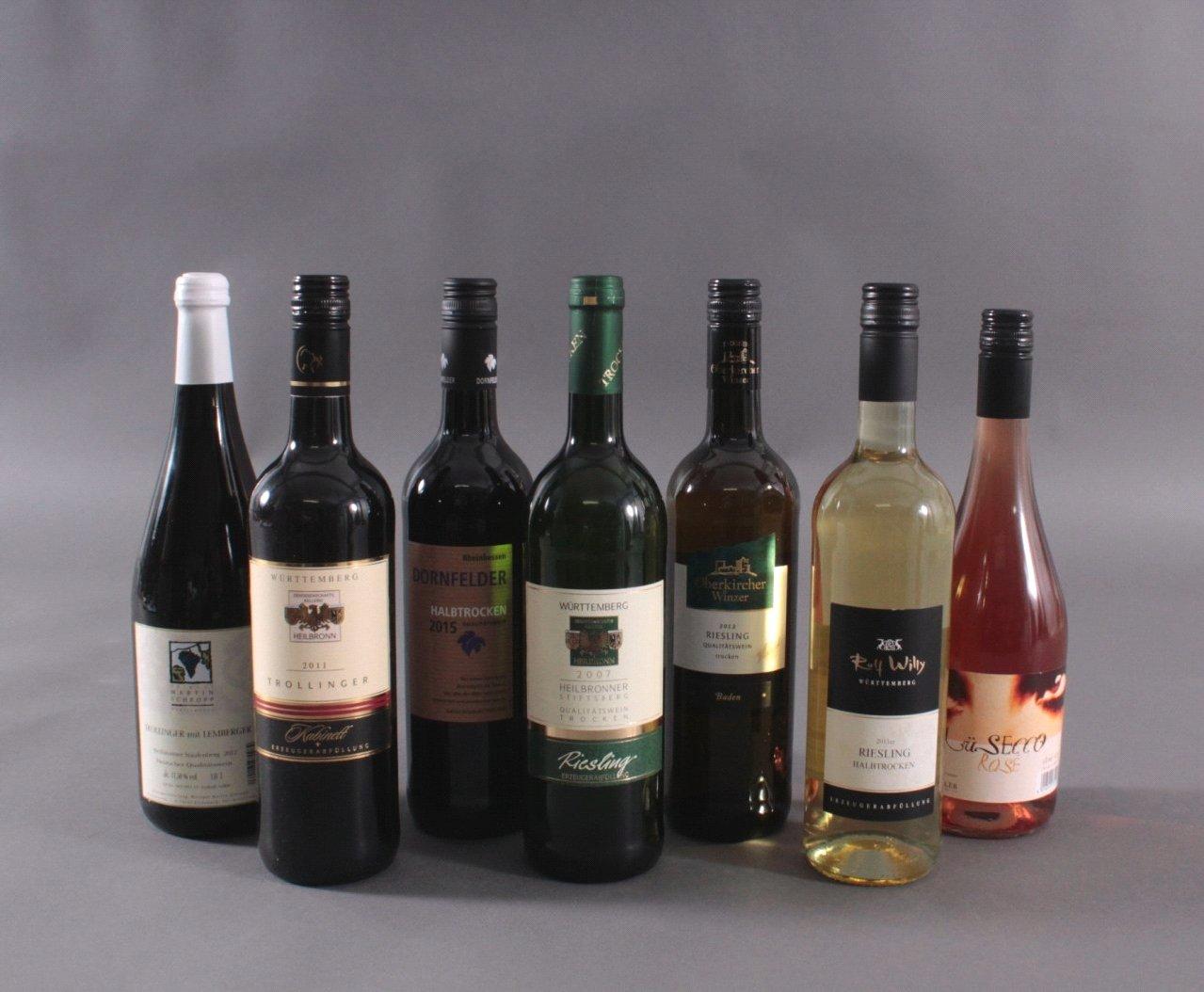 7 Flaschen Wein