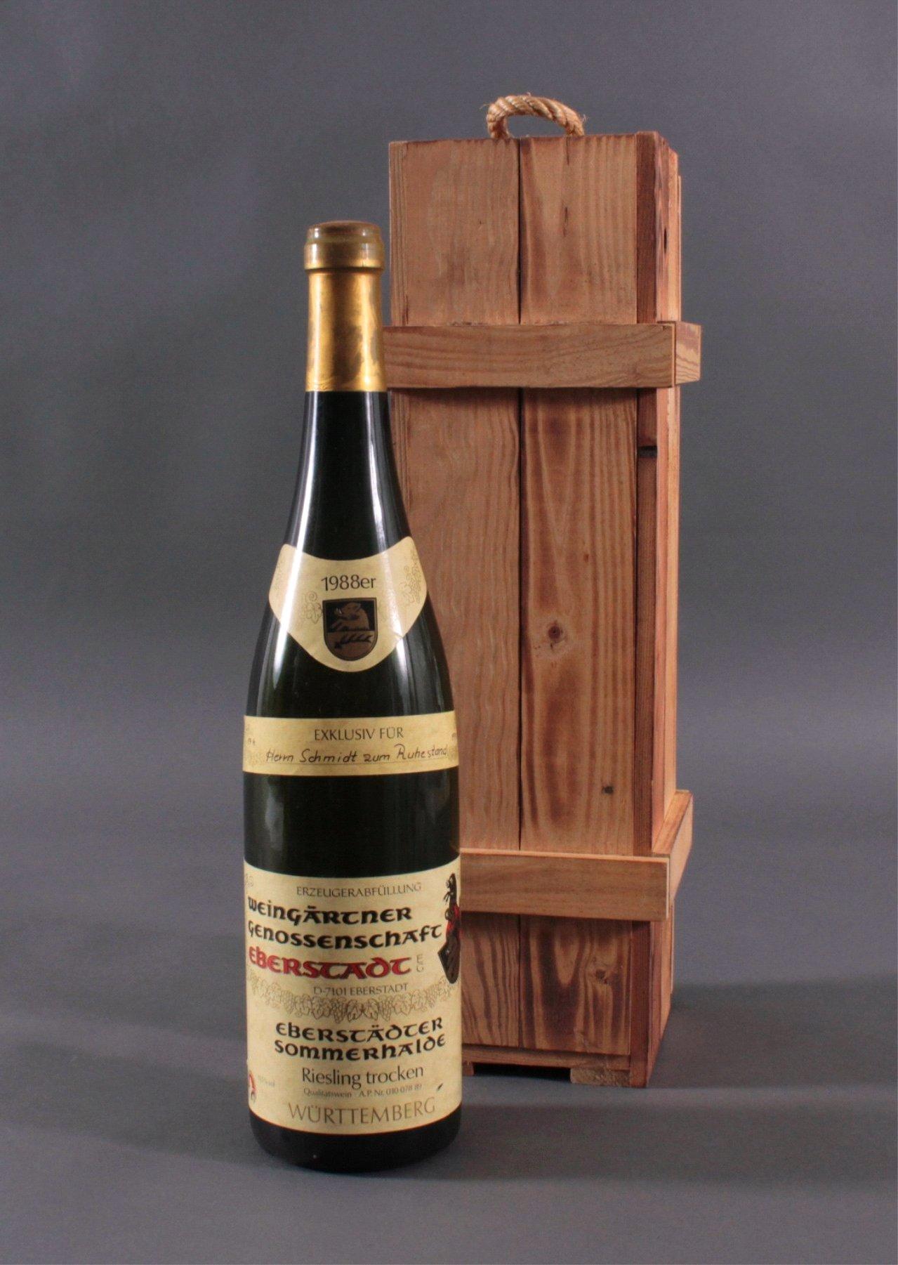 1988er Eberstädter Sommerhalde, Magnum Flasche