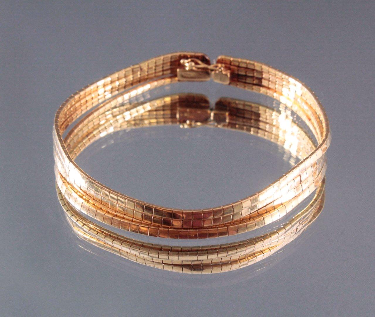 Damen Armband, 750/000 Gelb Gold-1