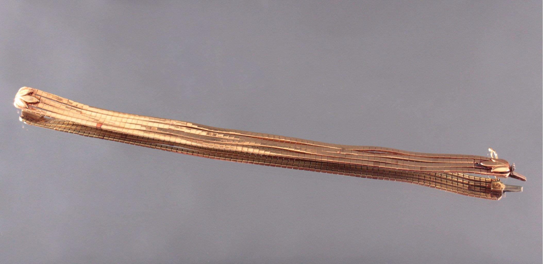Damen Armband, 750/000 Gelb Gold-2
