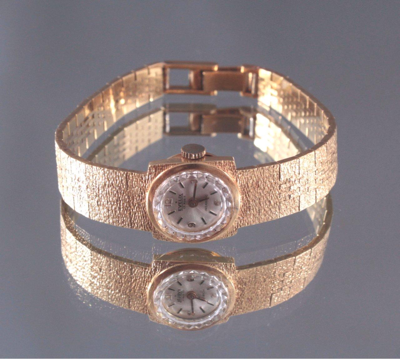 Damenarmbanduhr Evelix, 750/000 Gelb Gold-1