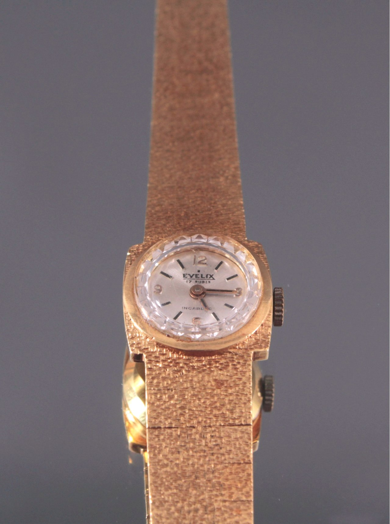 Damenarmbanduhr Evelix, 750/000 Gelb Gold-2
