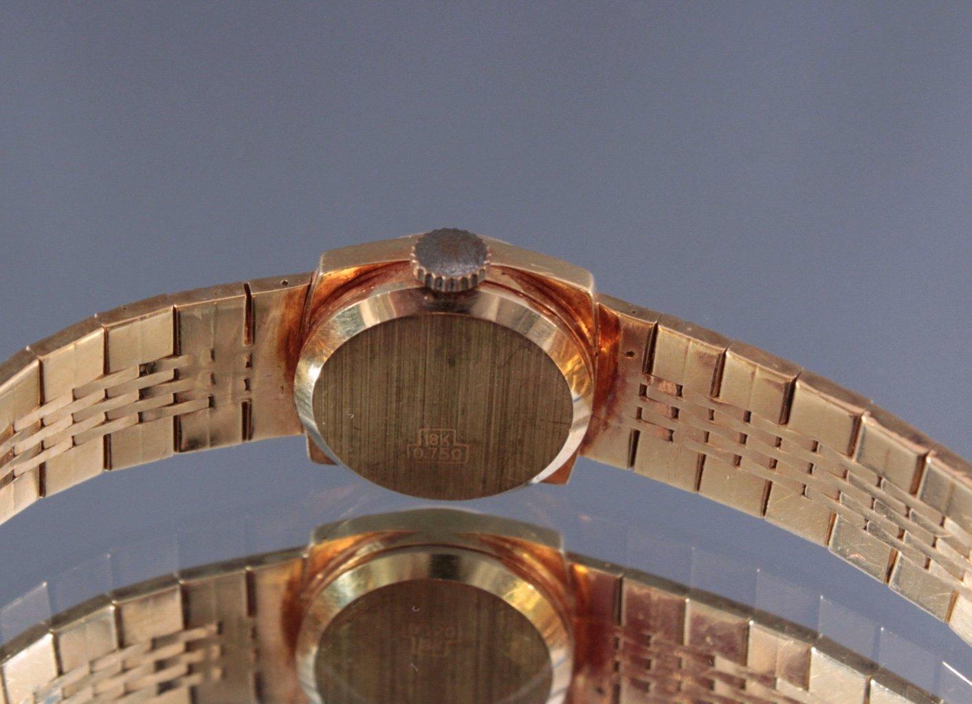 Damenarmbanduhr Evelix, 750/000 Gelb Gold-3