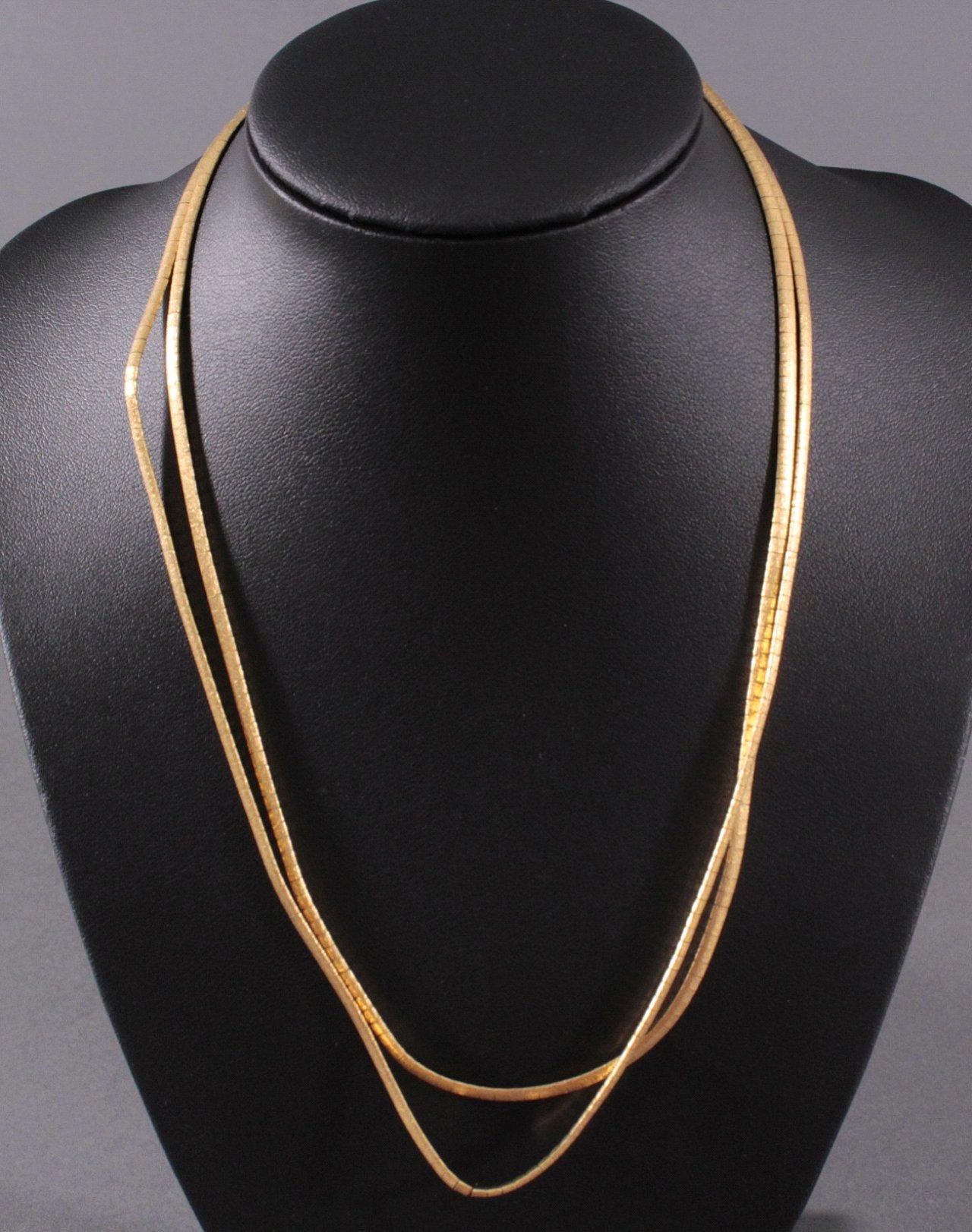 Damen Halskette, 750/000 Gelb Gold