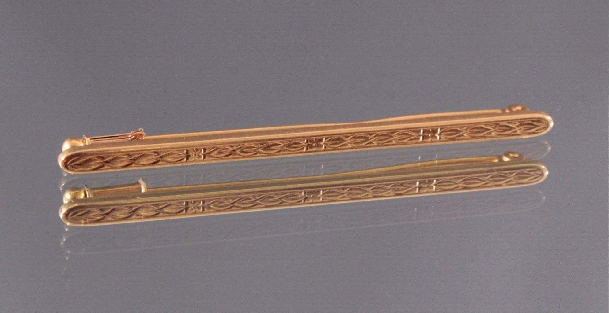Brosche 750/000 Gelb Gold
