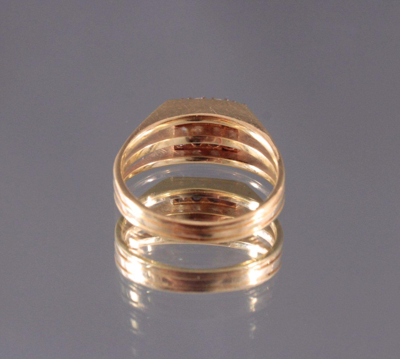Damenring mit 6 Diamanten, 585/000 Gelb Gold-2