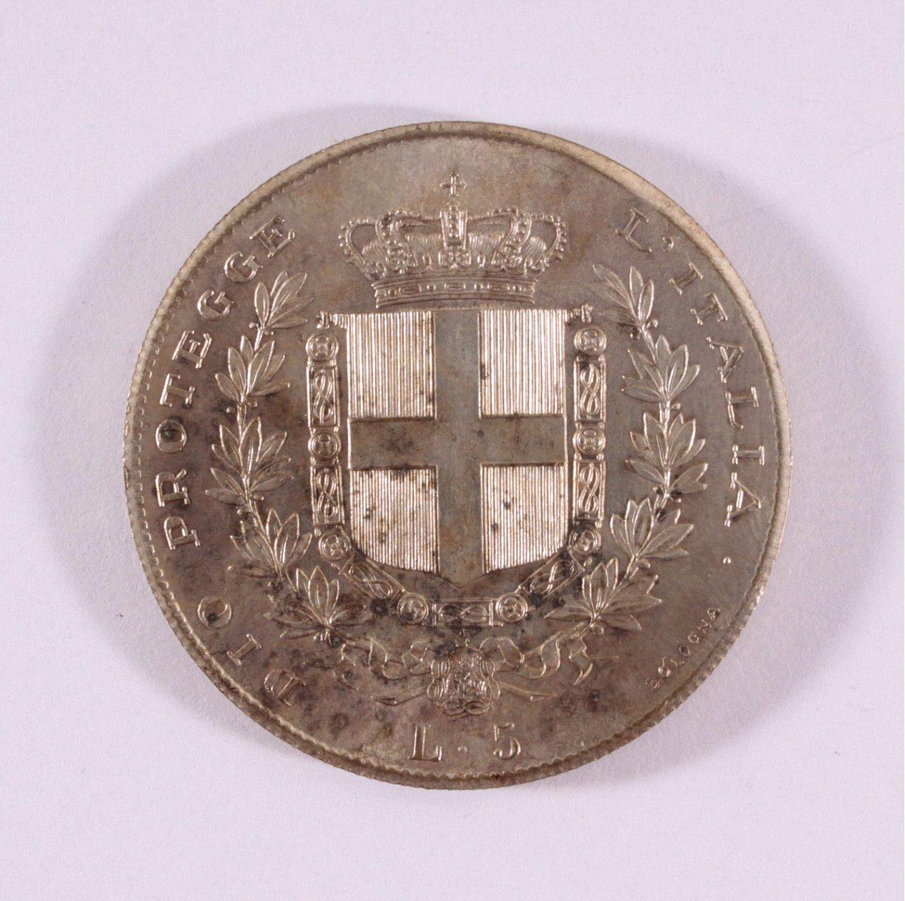Italien, Victor Emanuel II., 5 Lire 1859-1