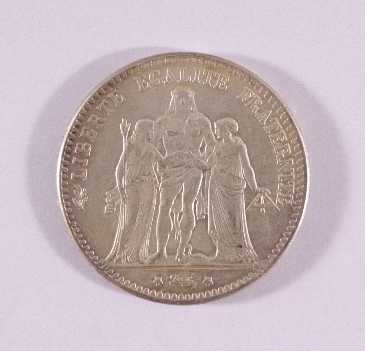 Frankreich, 5 Frances 1870, Napoleon III