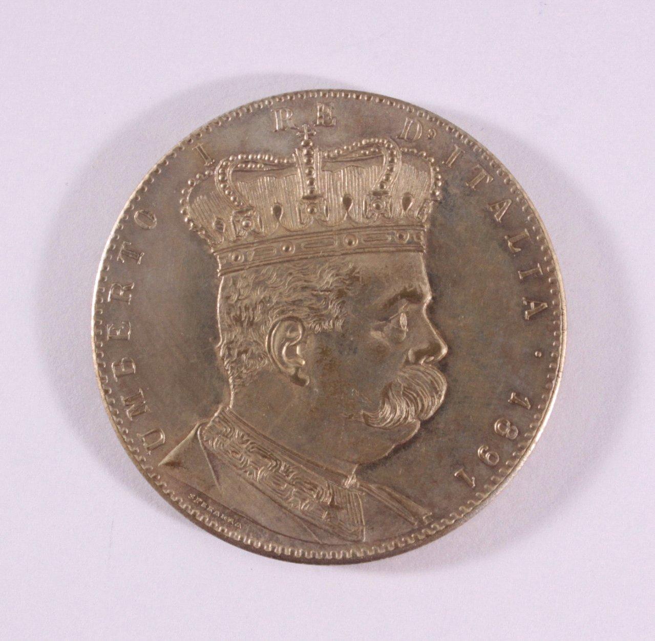 5 Lire / Talero 1891 Italien, Umberto, Eritrea Tallero