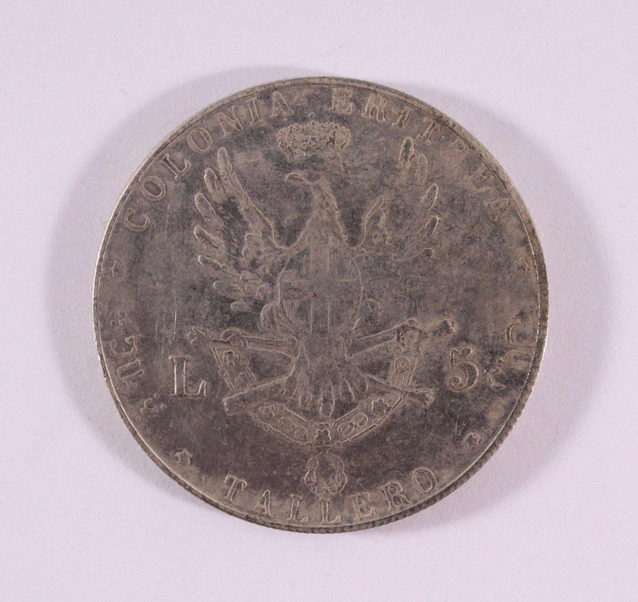 5 Lire / Talero 1891 Italien, Umberto, Eritrea Tallero-1
