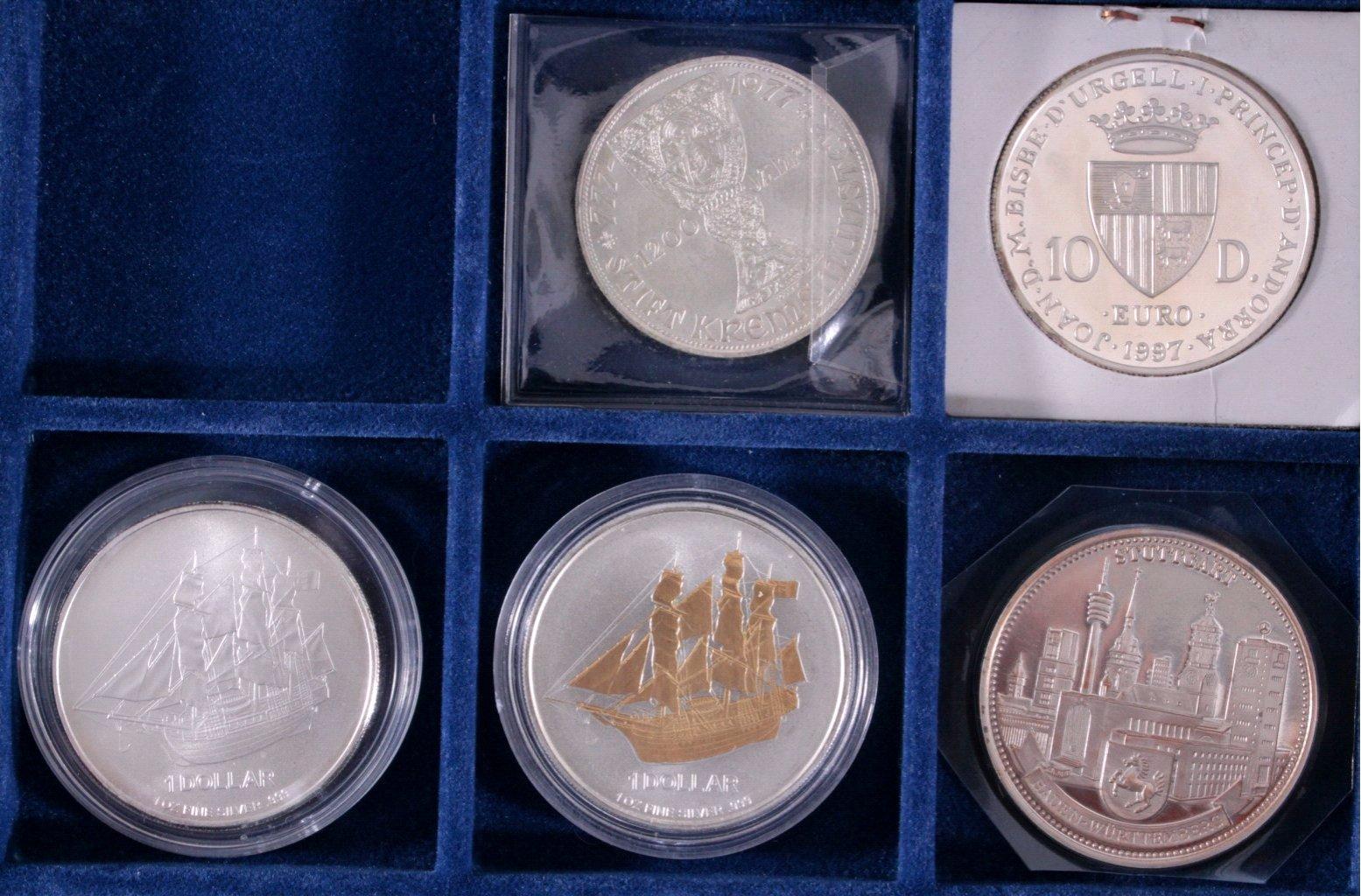 Konvolut Silbermünzen und Medaillen-1