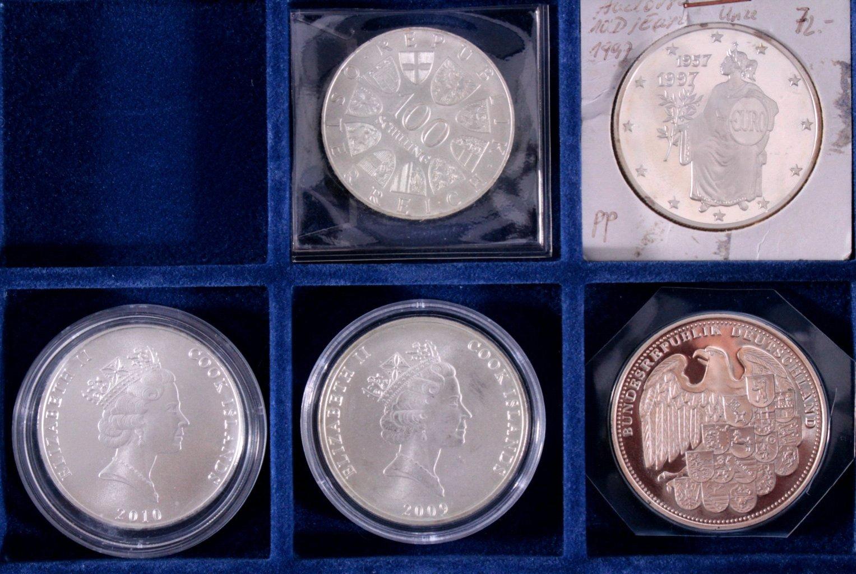 Konvolut Silbermünzen und Medaillen-4