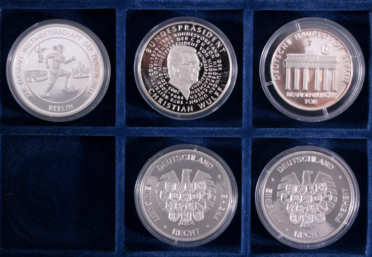 Konvolut Silbermünzen und Medaillen-5