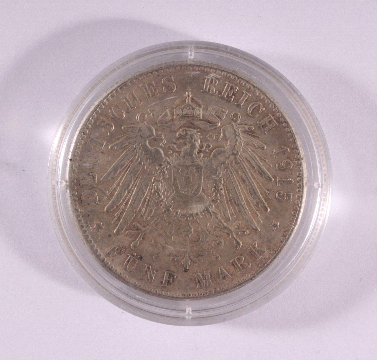 Deutsches Kaiserreich, Braunschweig, 5 Mark 1915-1