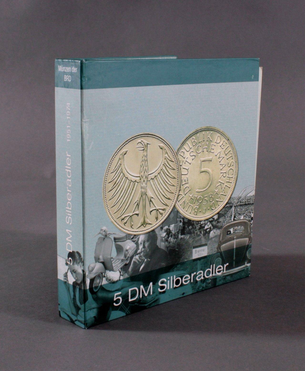 Sammlung 5 DM Silberadler mit Sammelordner, 1951-1974-4