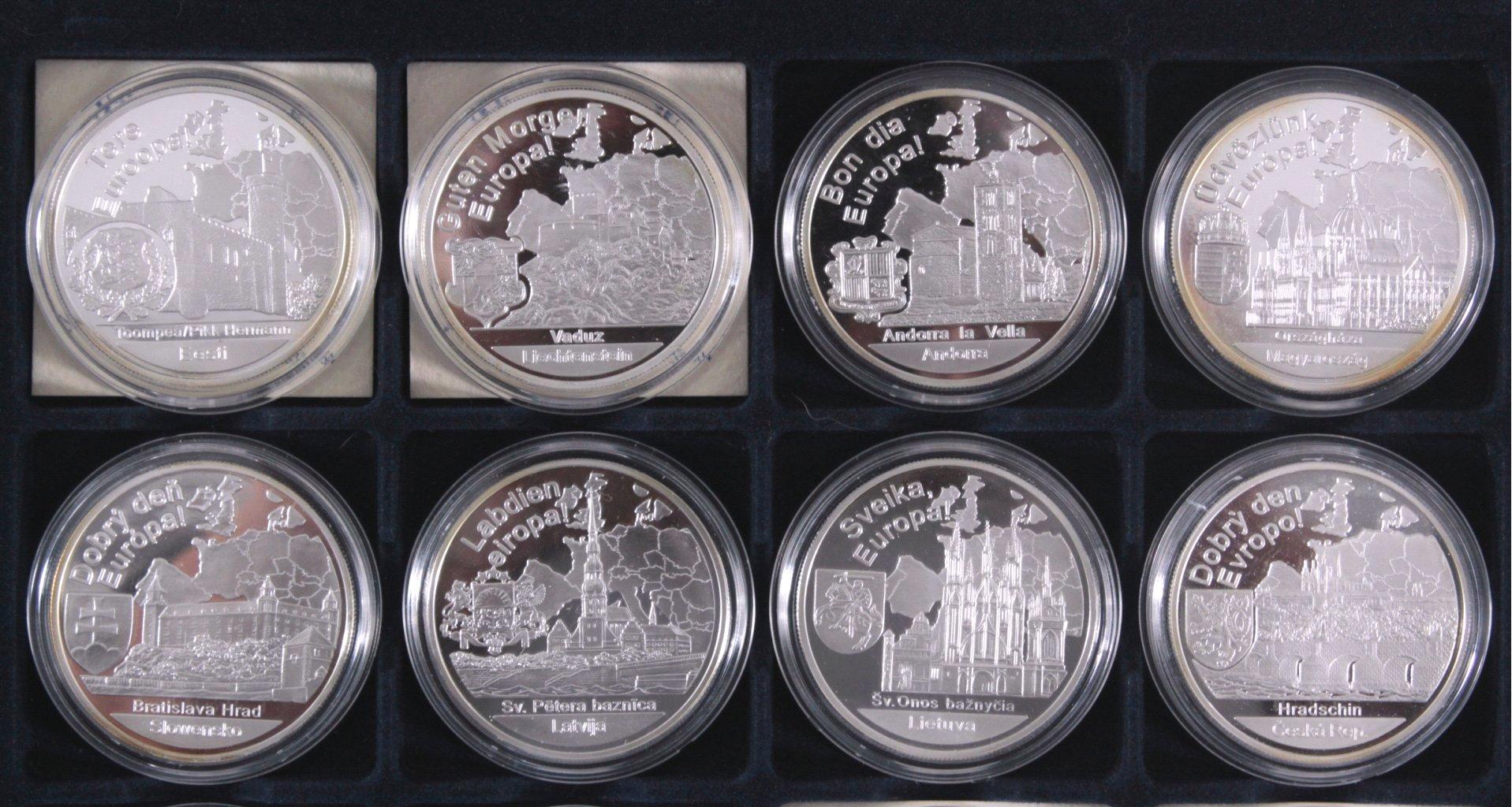 Europa, Konvolut von 16 Silbermünzen aus Europa-1