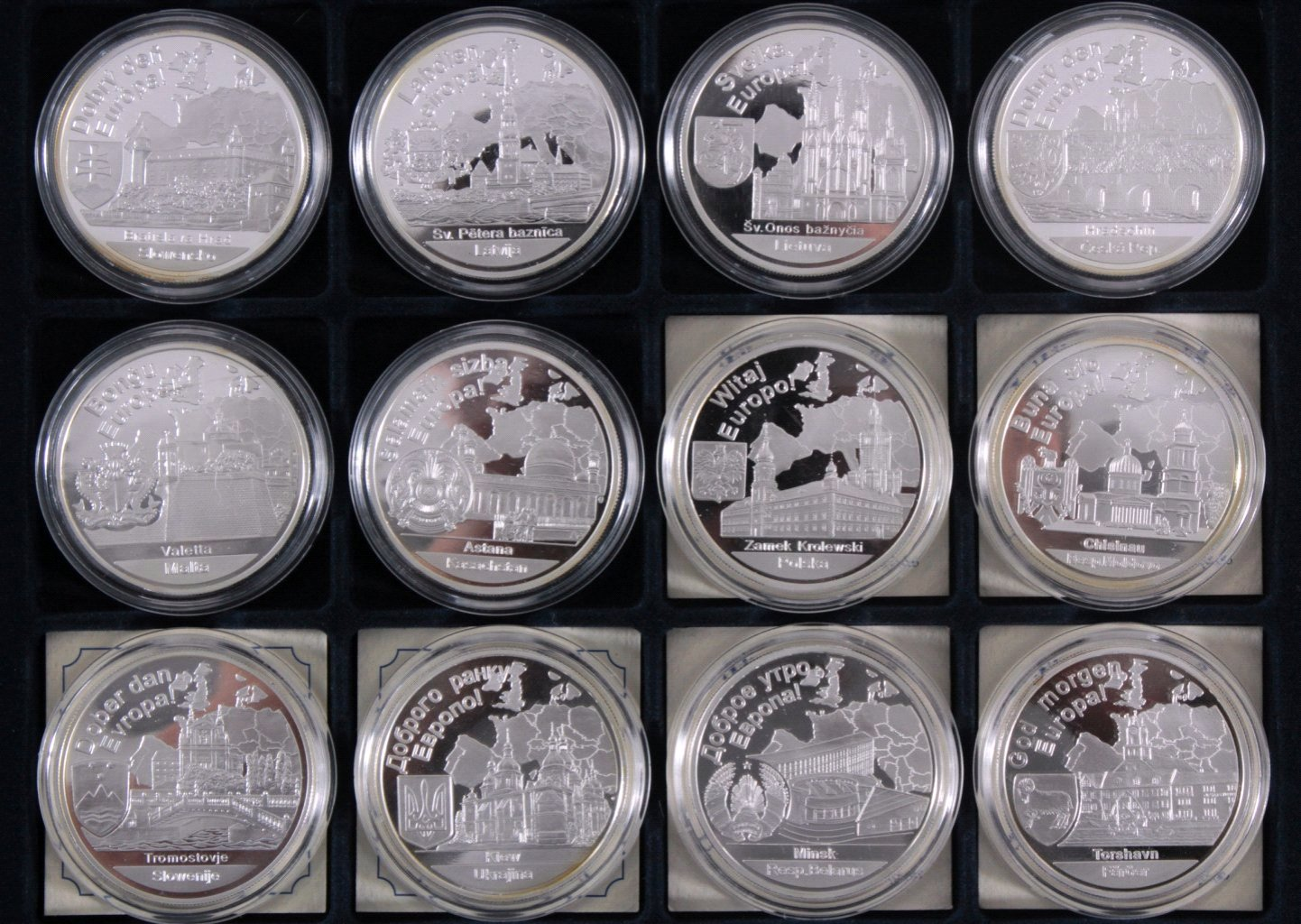 Europa, Konvolut von 16 Silbermünzen aus Europa-2