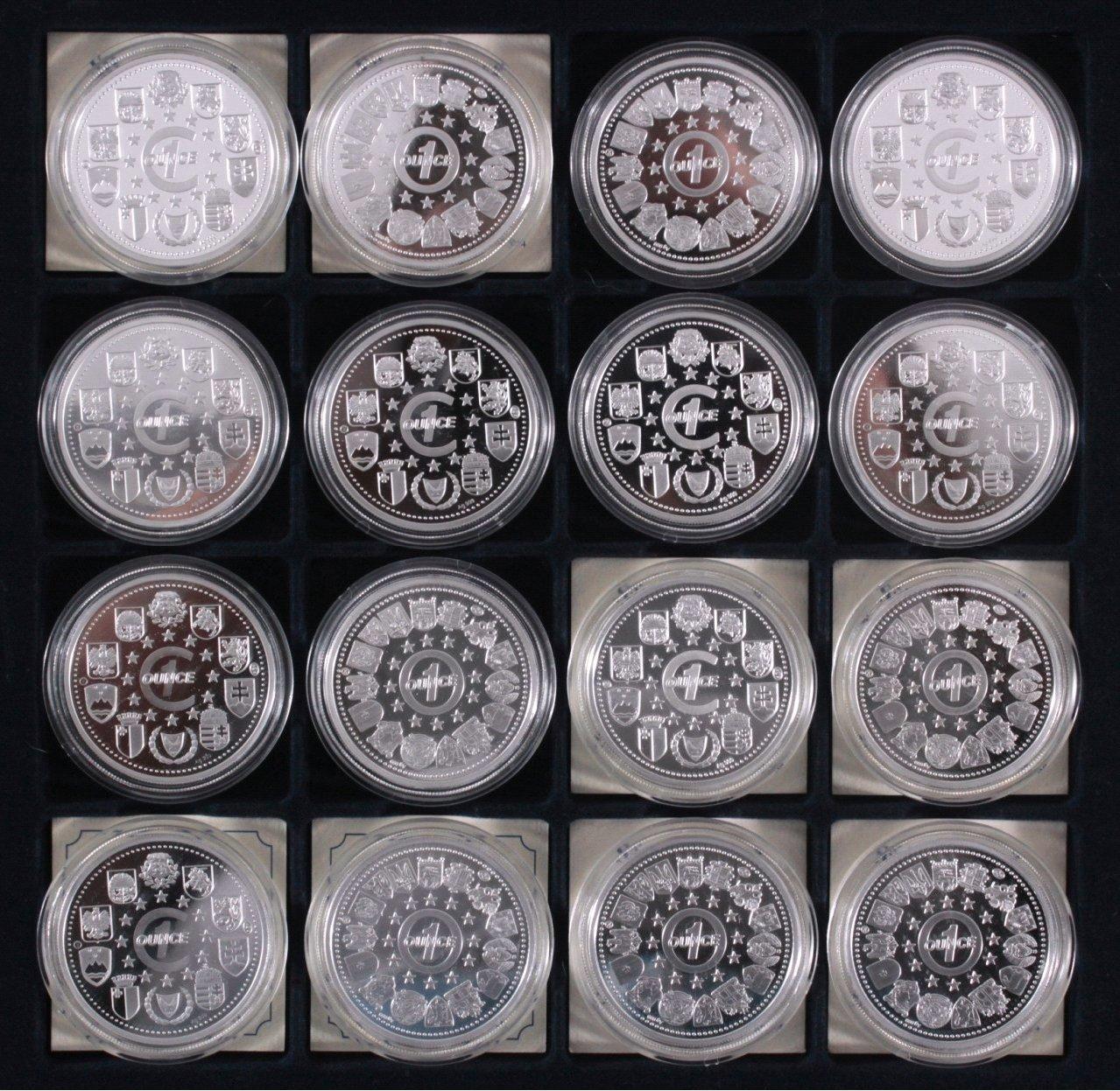 Europa, Konvolut von 16 Silbermünzen aus Europa-3