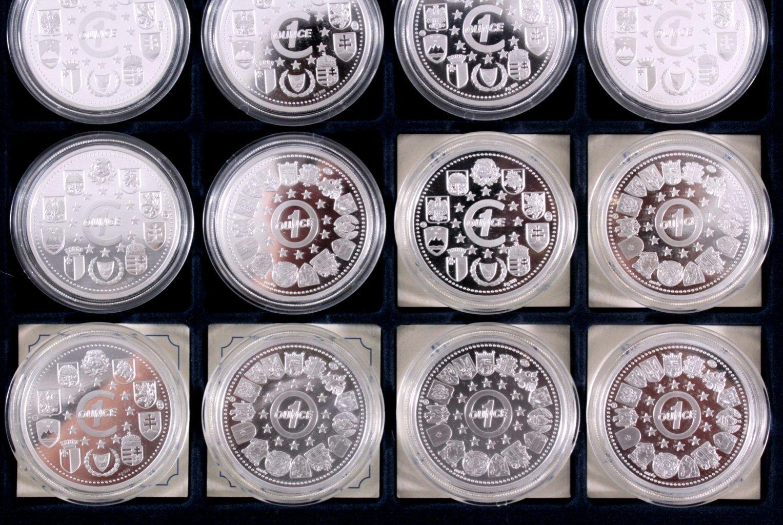Europa, Konvolut von 16 Silbermünzen aus Europa-5