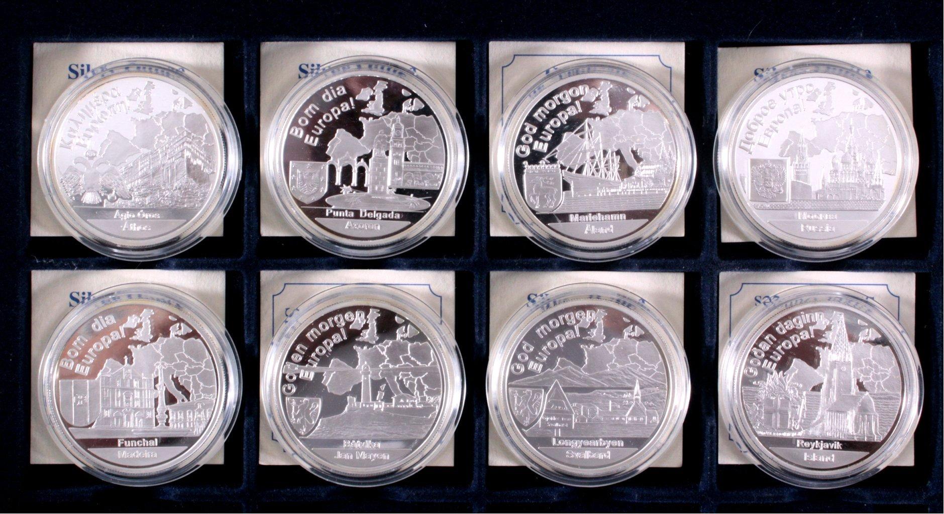 Europa, Konvolut von 8 Silbermünzen aus Europa