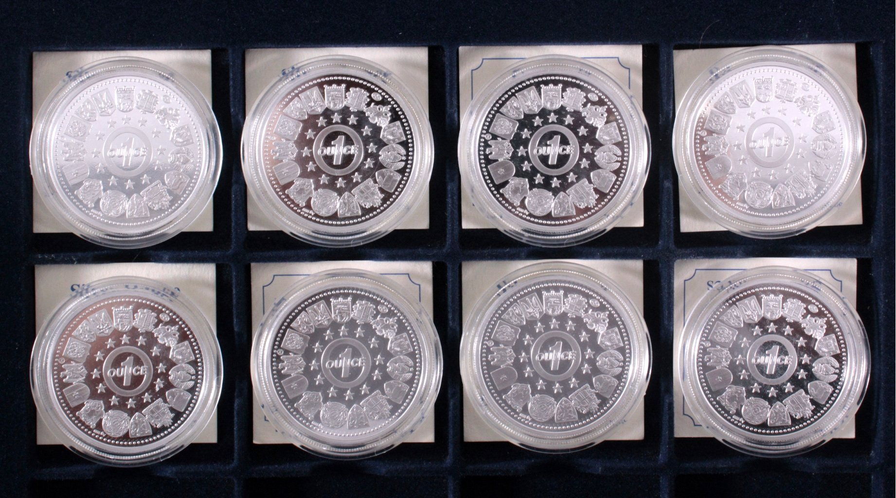 Europa, Konvolut von 8 Silbermünzen aus Europa-1