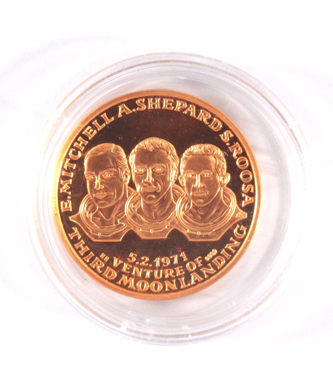 Goldmedaille Apollo 14