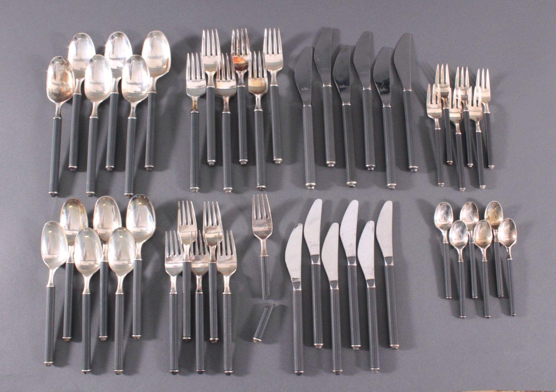 Rosenthal Besteck, Modell Variation/Schwarz, 925er Silber