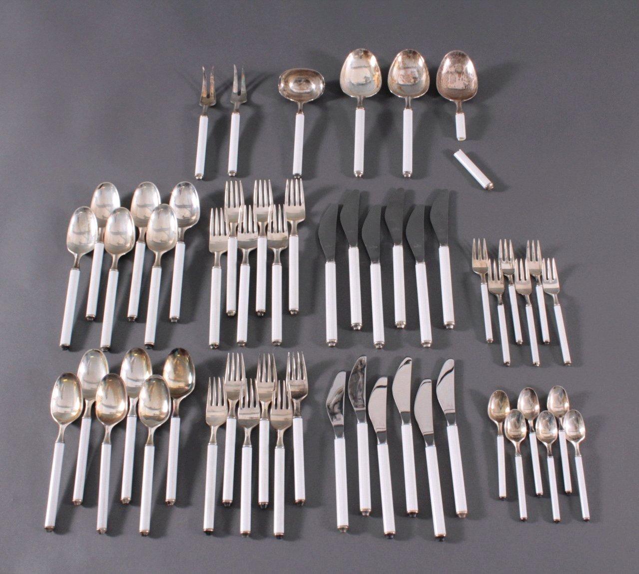Rosenthal Besteck, Variation/Weiß, 925er Silber