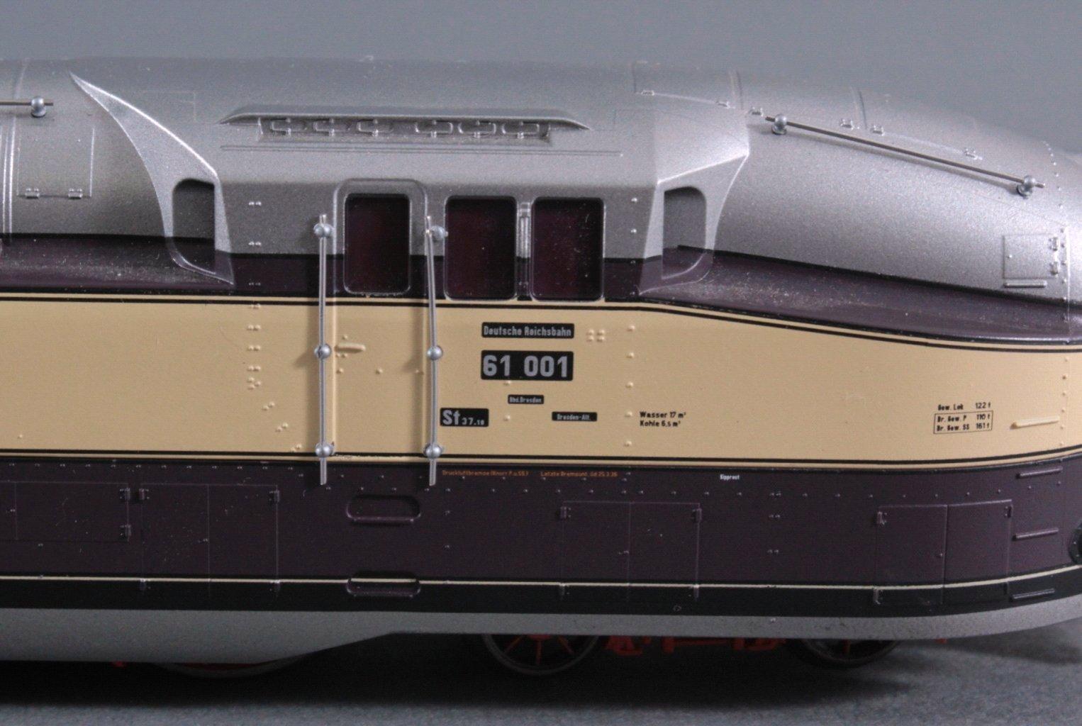 Dampflok 61 001 Deutsche Rechsbahn Spur H0-2