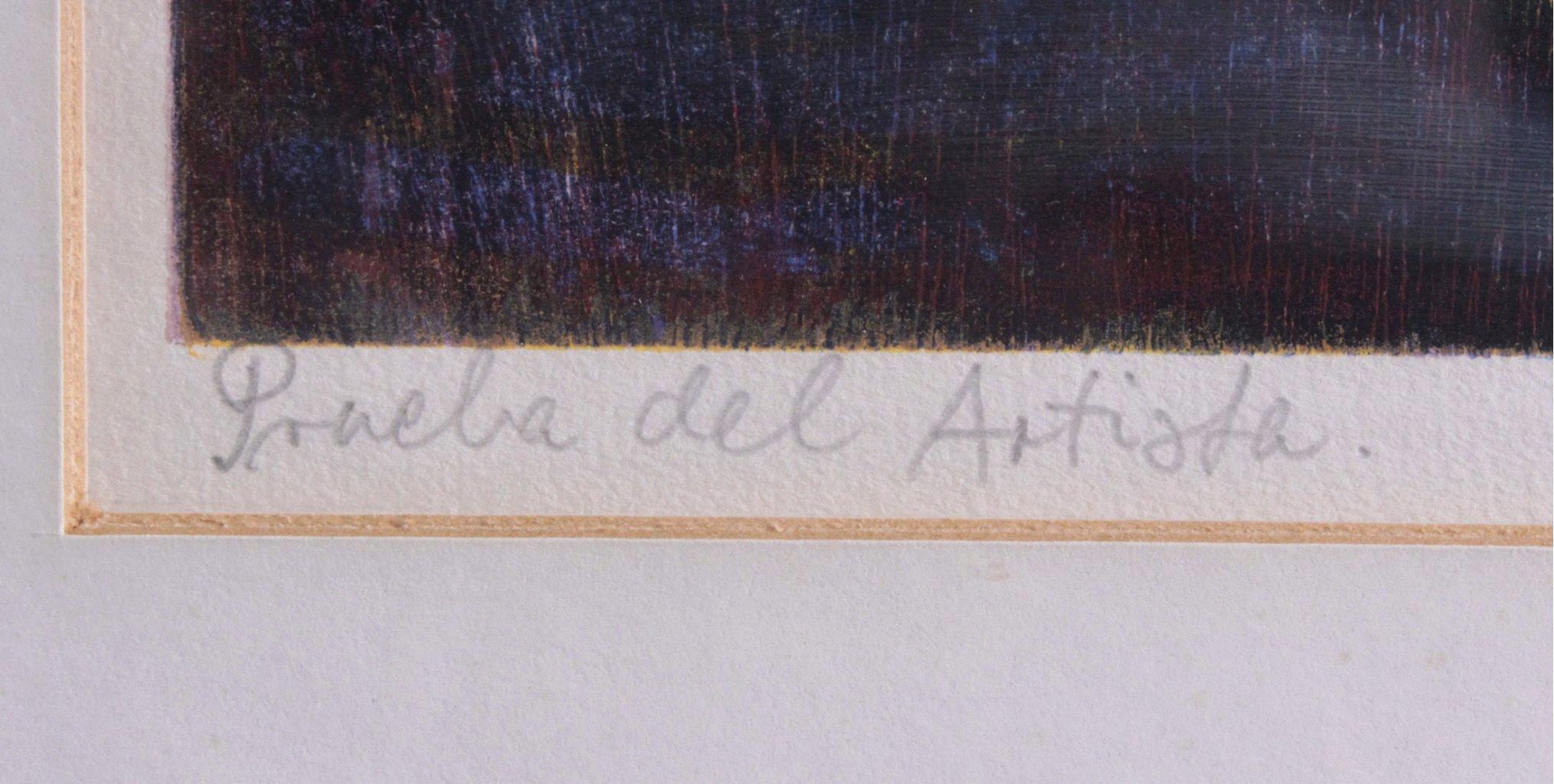 """Esteban Fekete 1924-2009 """"Prueba del Artista""""-2"""
