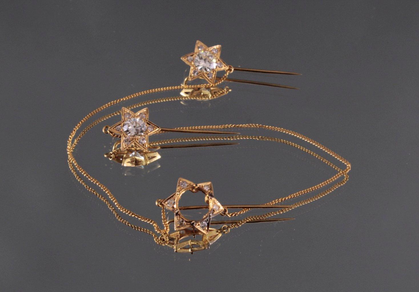 Steckkette mit Diamanten 750/000 GG