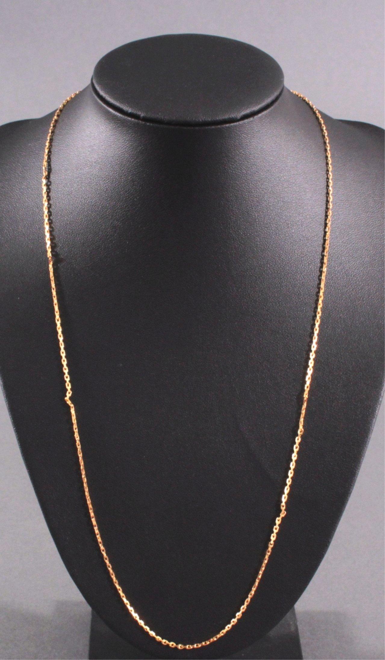 Halskette aus 23 Karat Gelbgold