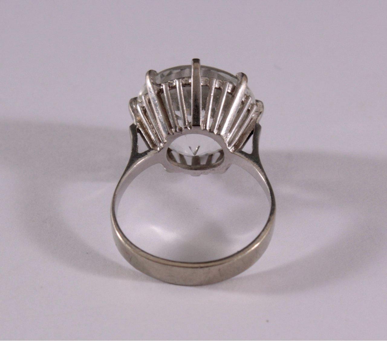 Damenring mit Kristall, 585/000 WG-2