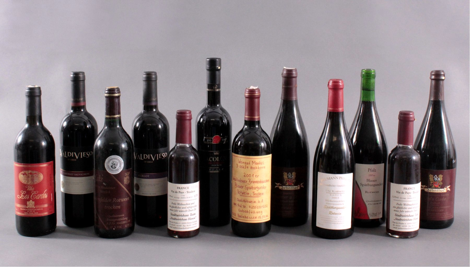 12 Flaschen Rotwein