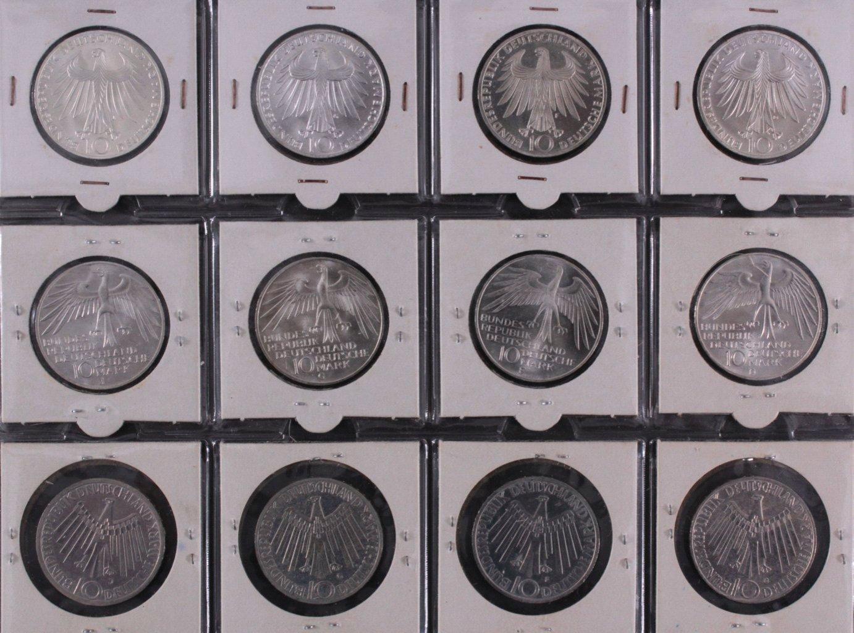 Komplette Sammlung 10 DM Münzen Olympia 1972-5
