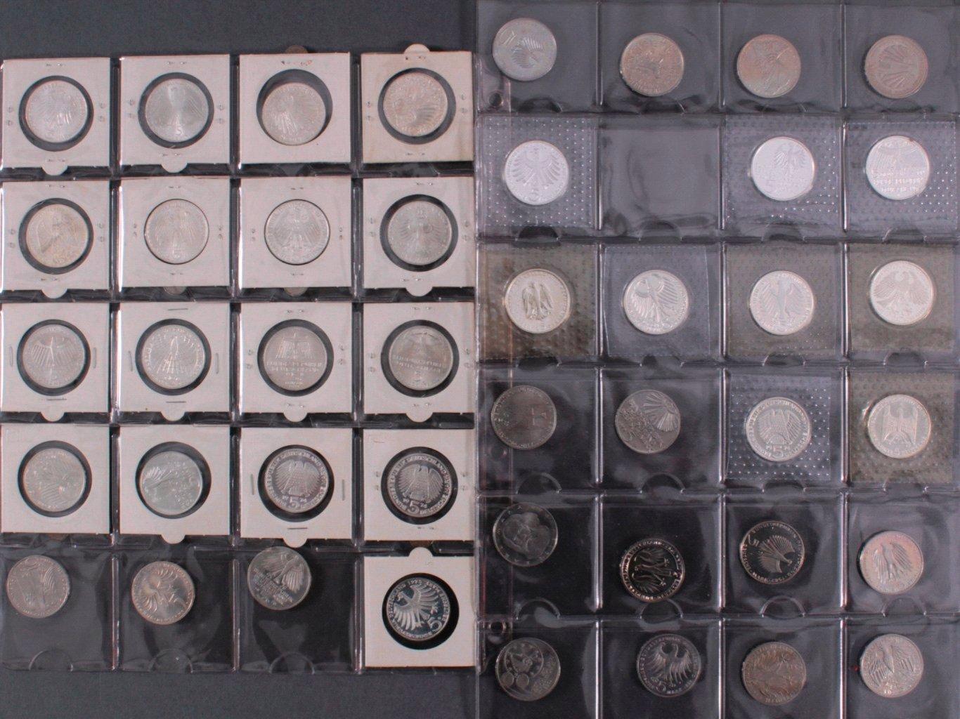 Kleine Sammlung 5 DM Münzen-1
