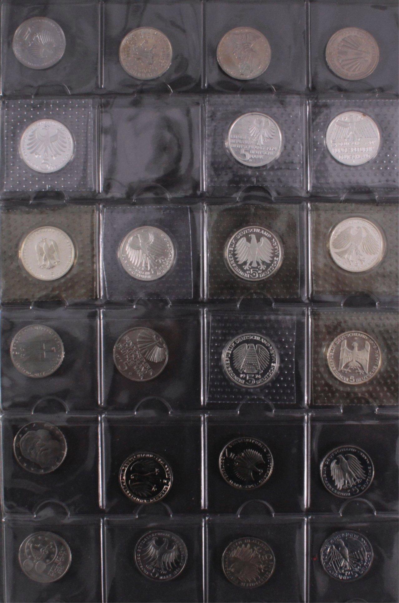 Kleine Sammlung 5 DM Münzen-2