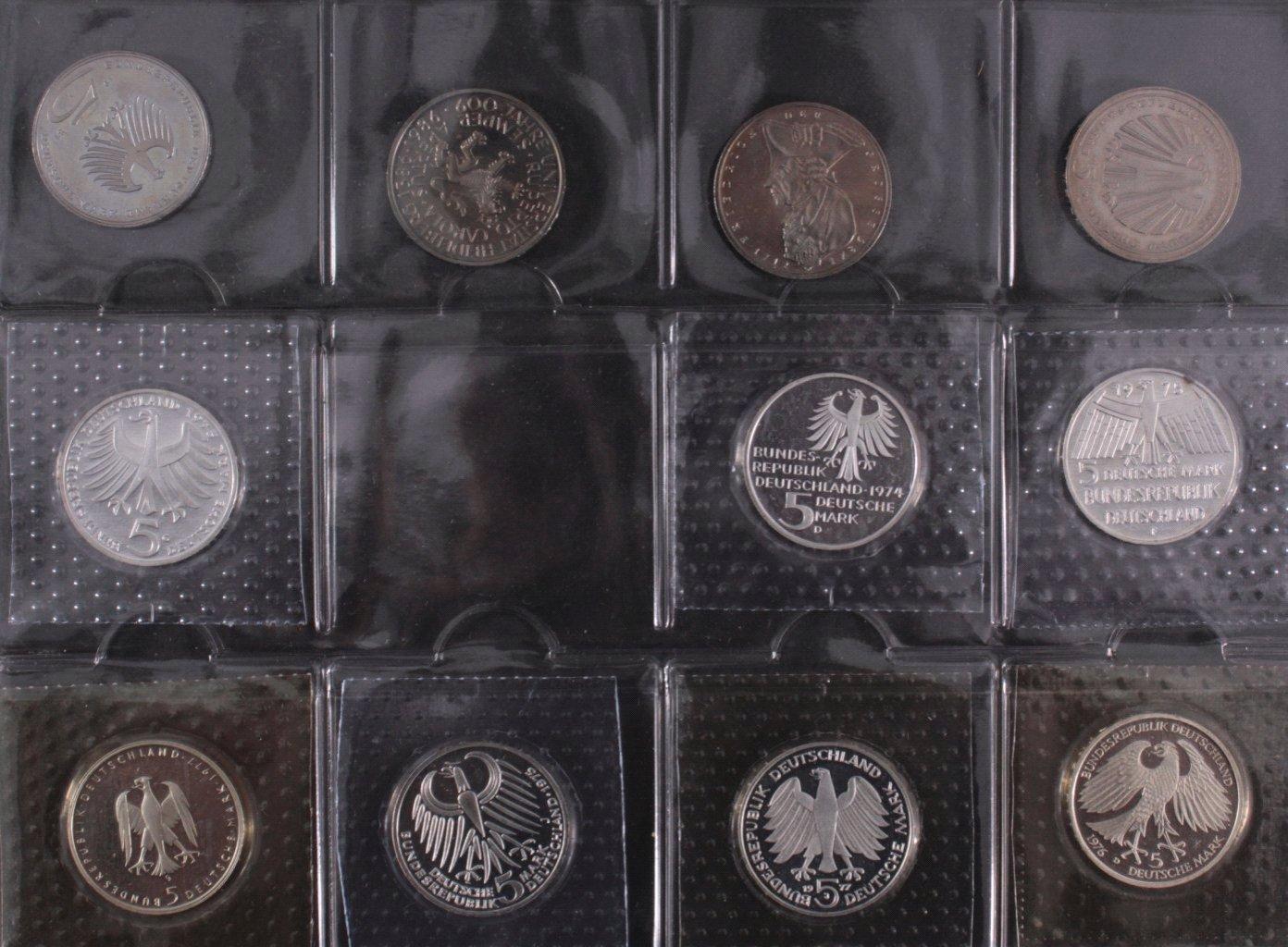 Kleine Sammlung 5 DM Münzen-3